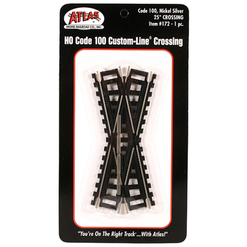 HO Code 100 25 Degree Custom Crossing