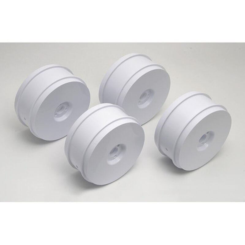 1/8 Buggy Front/Rear 2.8 Wheels, 83mm, White (4): RC8