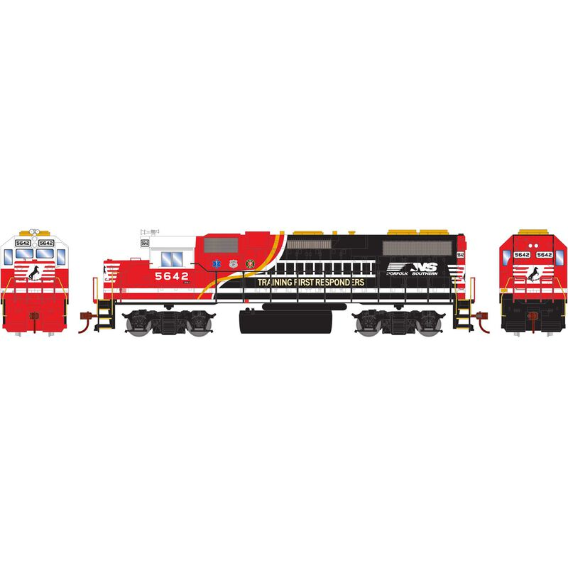 HO GP38-2 with DCC Decoder NS Train 1st Respondr#5642