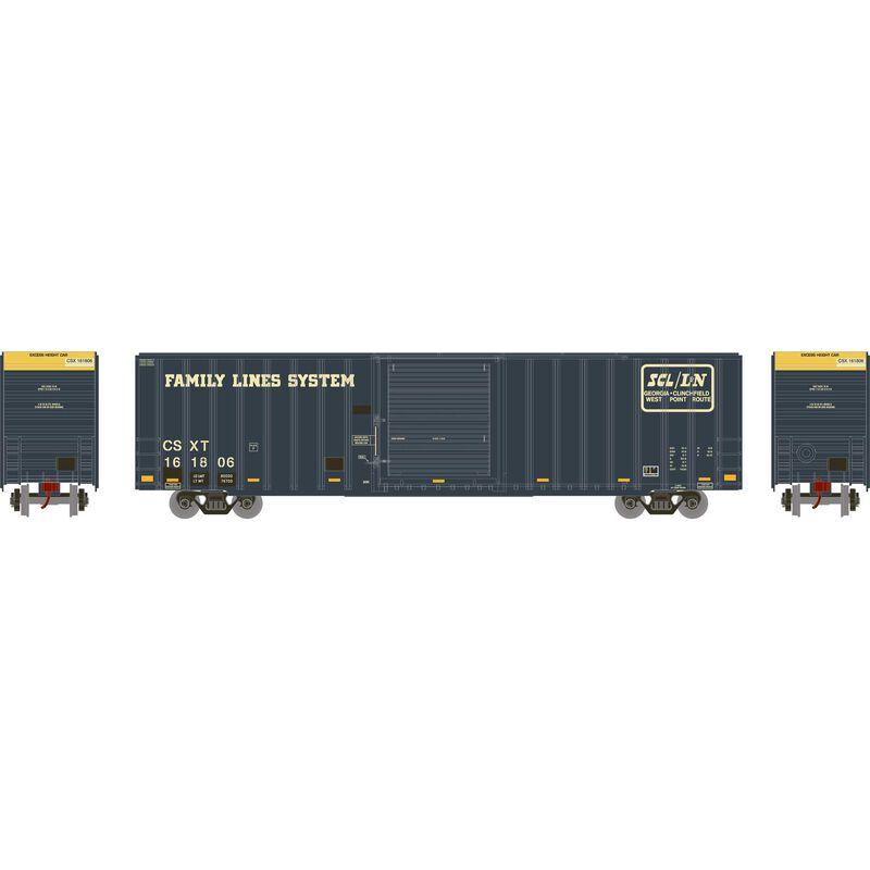 HO RTR 60' ICC Hi-Cube Box CSX ex L&N #161806