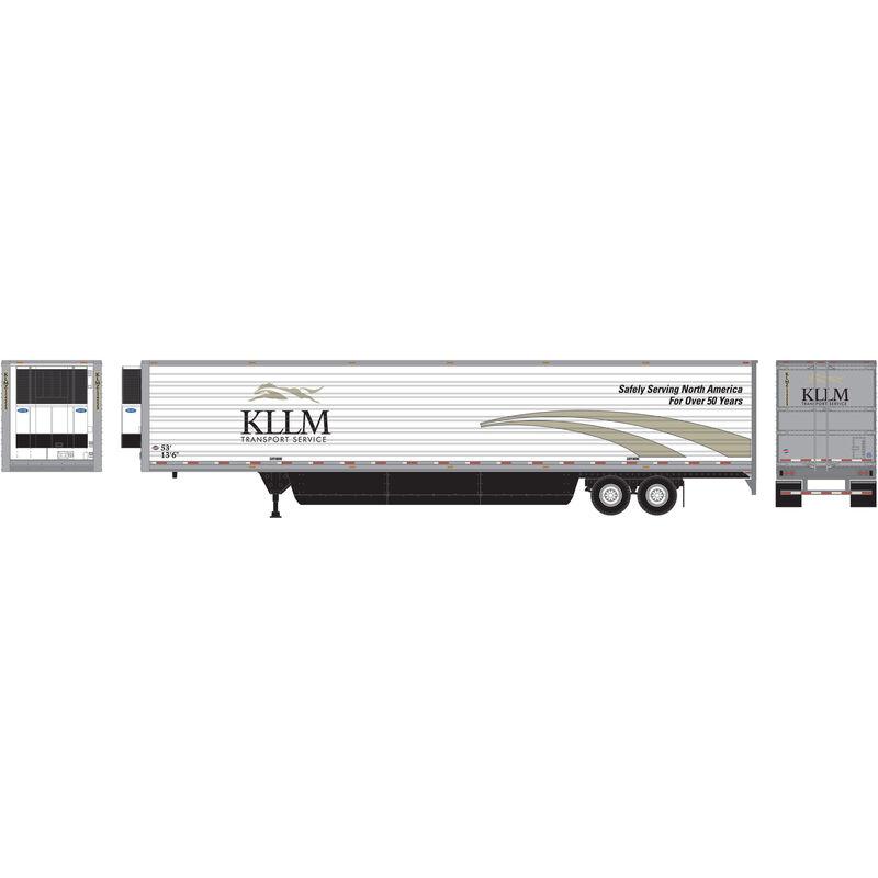 HO RTR 53' Reefer Trailer KLLM Intermodal #124223