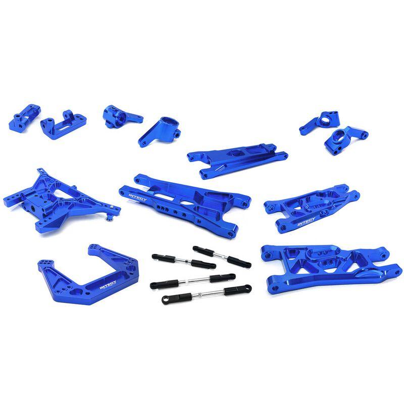 Billet Mach Alloy Suspension Kit, Blue: Bigfoot 2WD