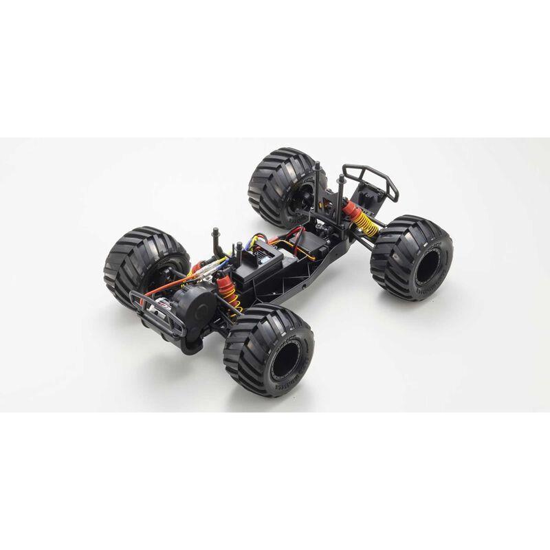 1/10 Monster Tracker 2WD Monster Truck Brushed RTR, Orange/Grey