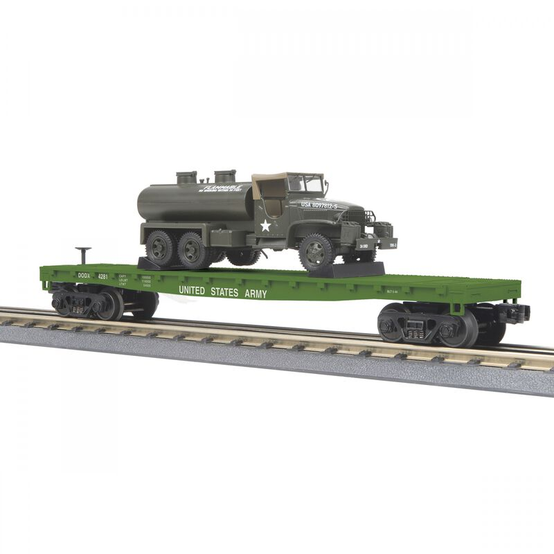 O-27 Flat Car with 6x6 Tank Truck USARM