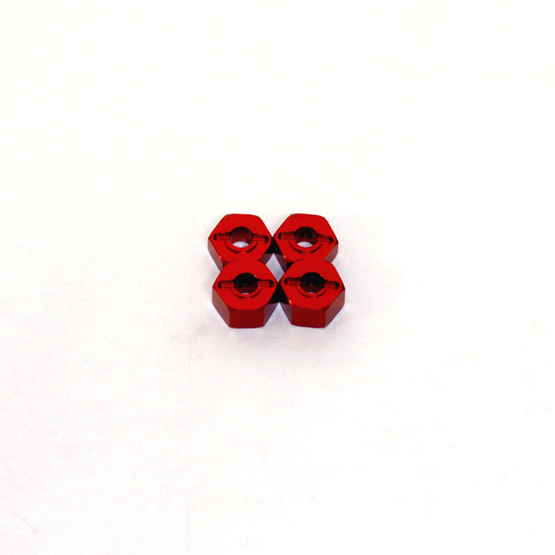 Lock-Pin Hex Adapter, Red: Stampede, Rustler, Bandit, Slash