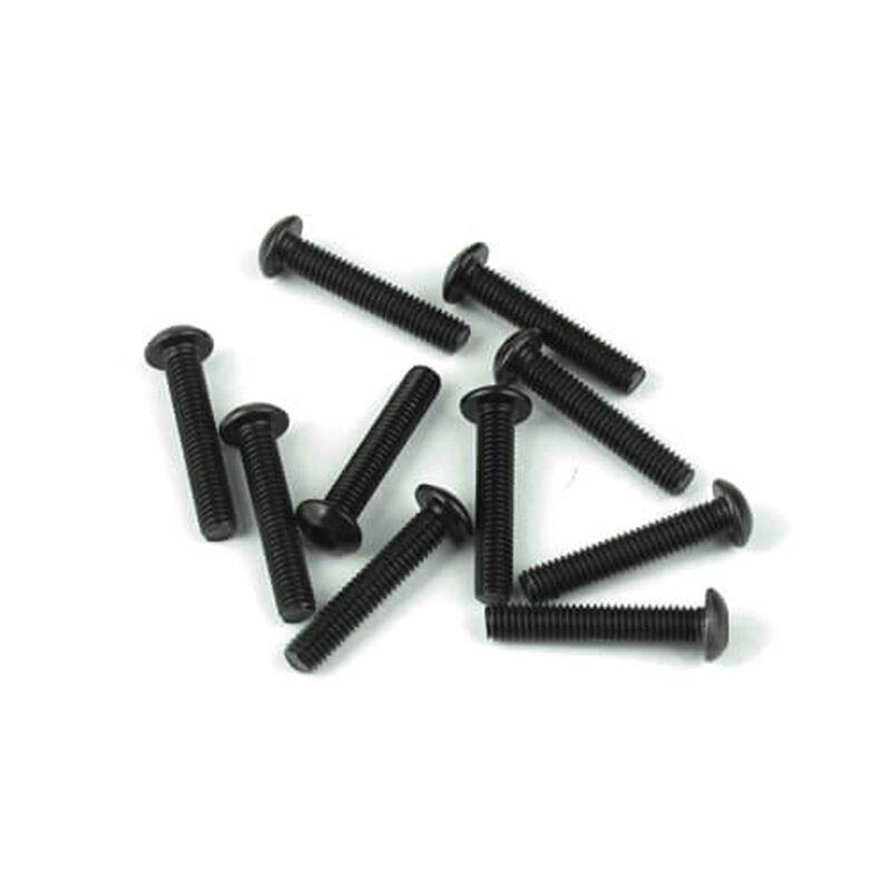 M3x16mm Button Head Screws, Black (10)