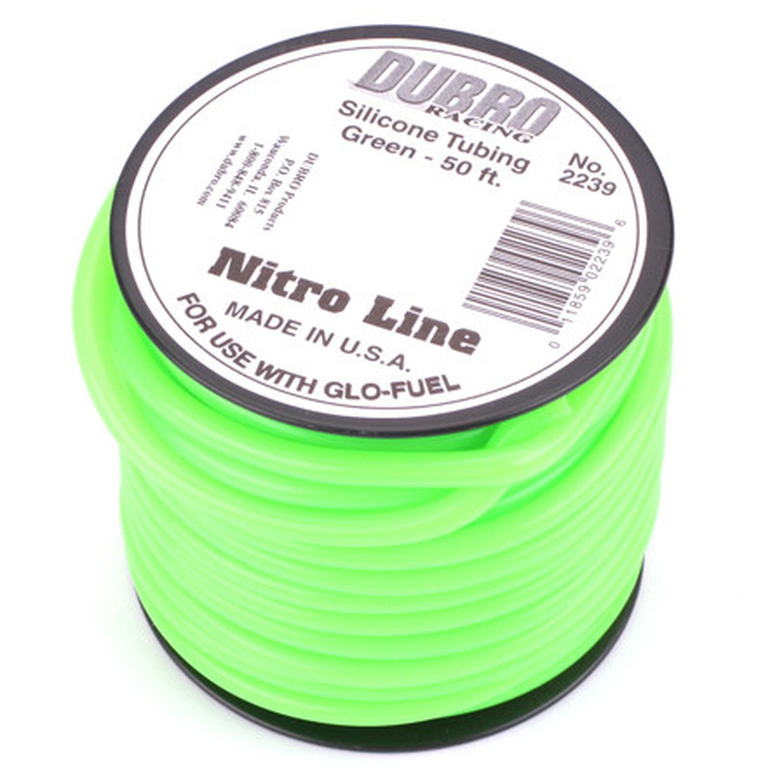 Silicone 50' Fuel Tubing, Green
