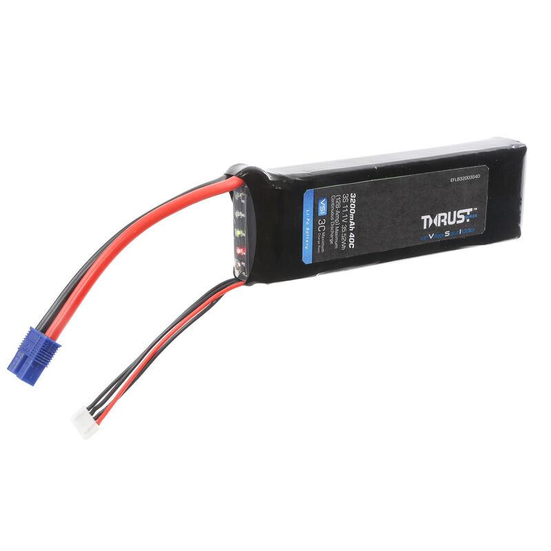11.1V 3200mAh 3S 40C Thrust VSI LiPo Battery: EC3