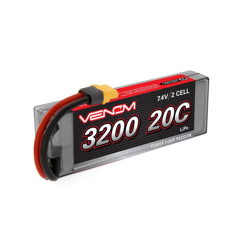 7.4V 3200mAh 2S 20C DRIVE LiPo Battery: UNI 2.0 Plug