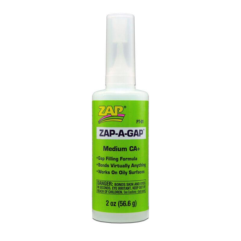 Zap-A-Gap Medium CA+ Glue, 2 oz