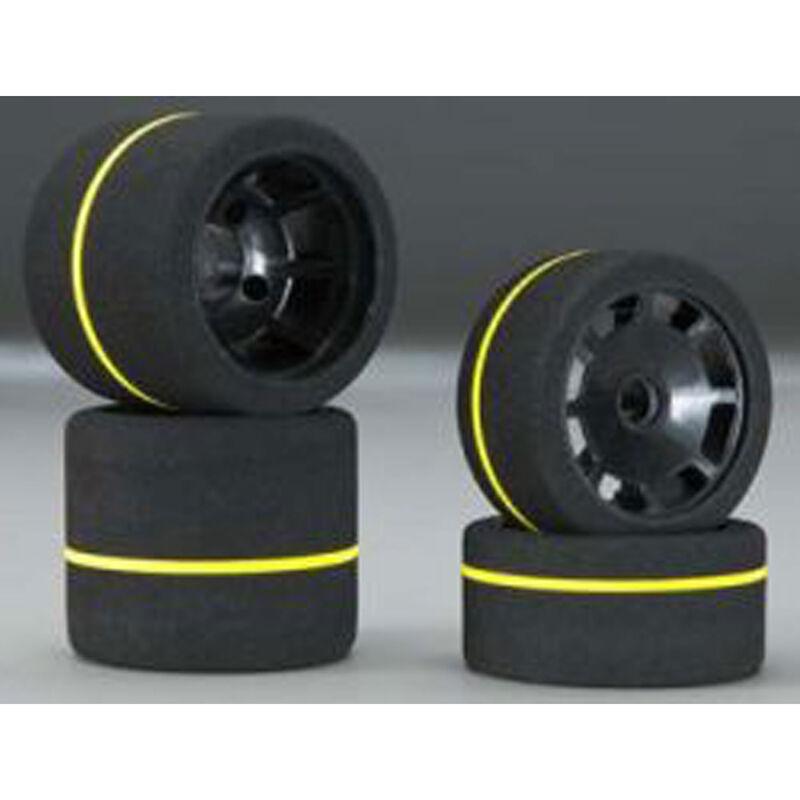1/10 Spec Combo Tires (4) White Gray