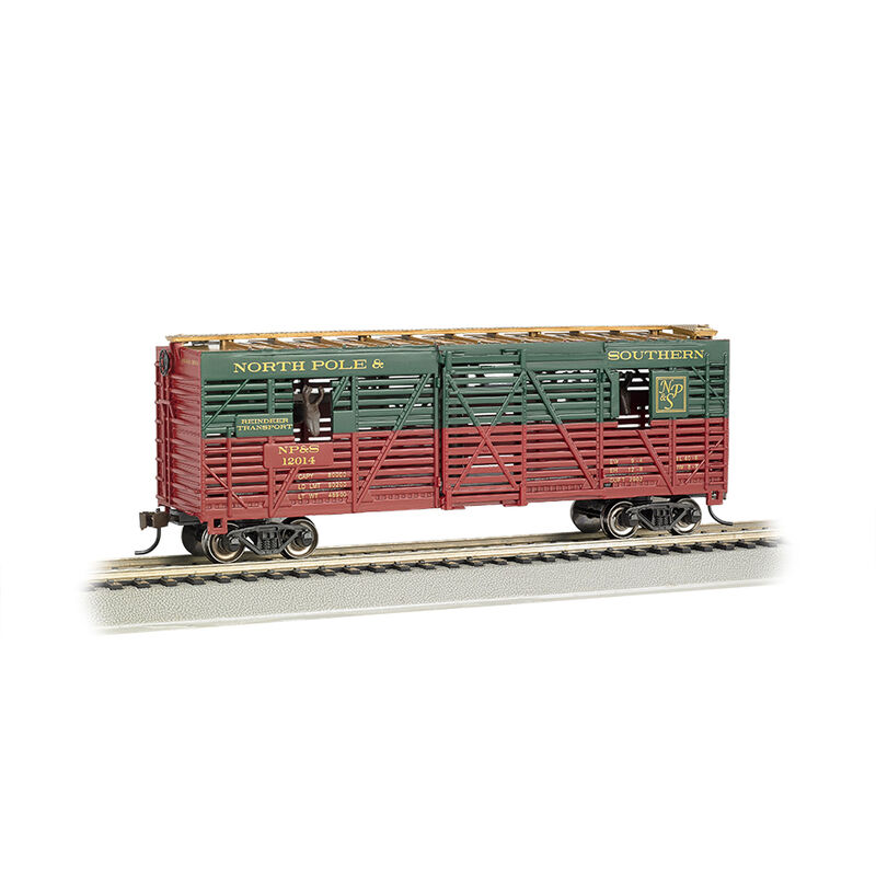 HO 40' Animated Stock Car, Christmas/Reindeer