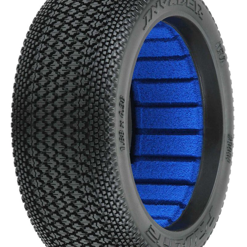 Invader S4 1/8 Buggy Tires, F/R (2)