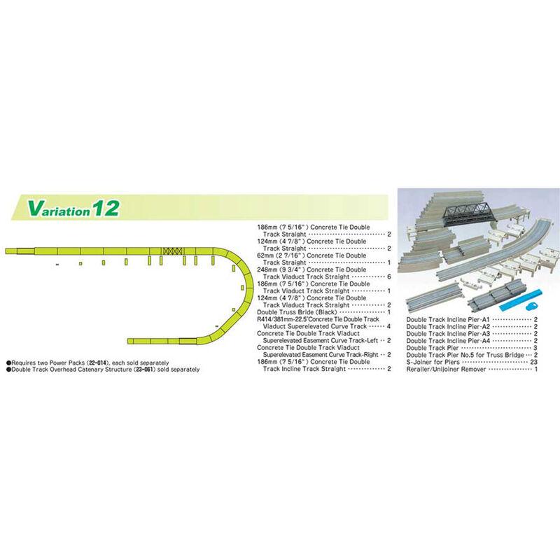 N V12 Double Track Viaduct Set