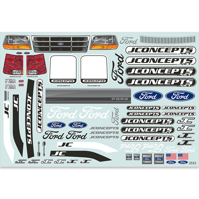 1/10 1993 Ford F-150 Clear Body with Spoiler: Rustler VXL