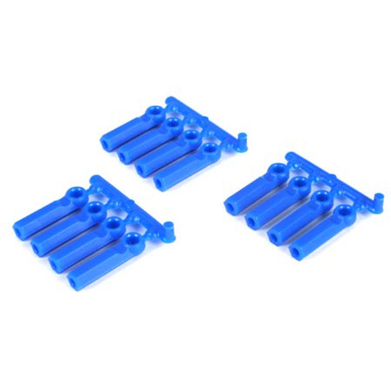 Rod Ends:Long Shank 4-40(12)Blue