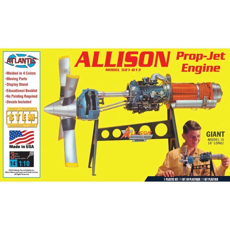 Allison 501-D13 Prop Jet Aircraft Engine, 1/10