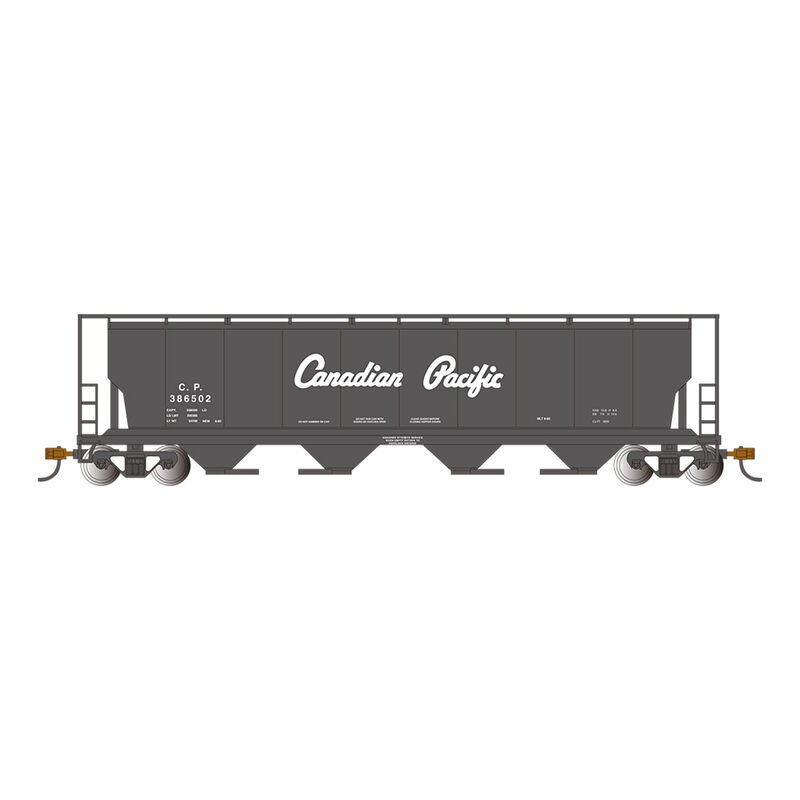 HO 4-Bay Cylindrical Hopper with FRED, CPR Black Script