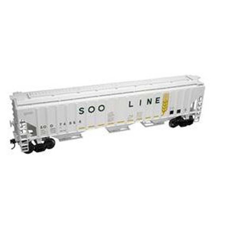 O Trainman PS 4750 Covered Hopper, SOO (2R)