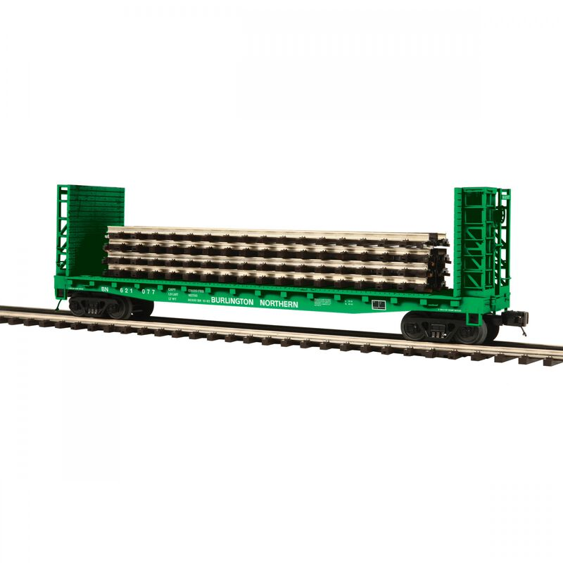O Flat with Bulkheads & ScaleTrax Load BN #621077