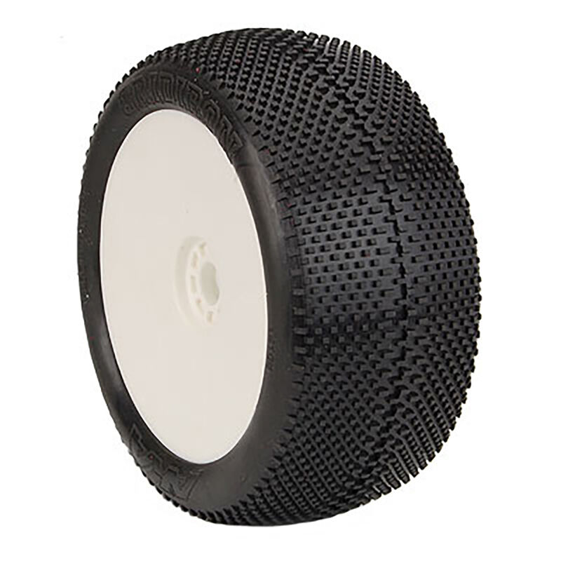 1/8 Truggy GRIDIRON (Super Soft, Long Wear) EVO Mounted Tires, White (2)