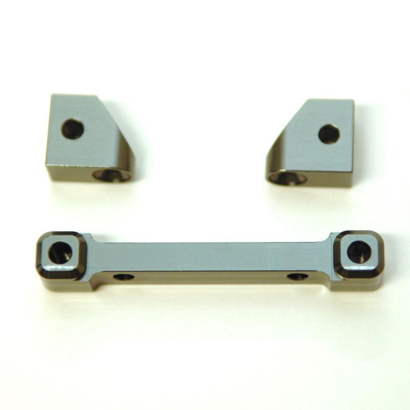 Aluminum Front Hinge-Pin Mount (3pc), Gun Metal: 4Tec 2.0