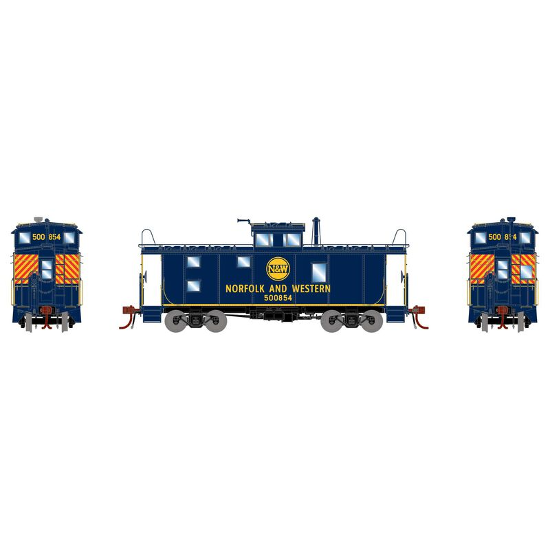 HO C-20 ICC Caboose with Lights, N&W #500854