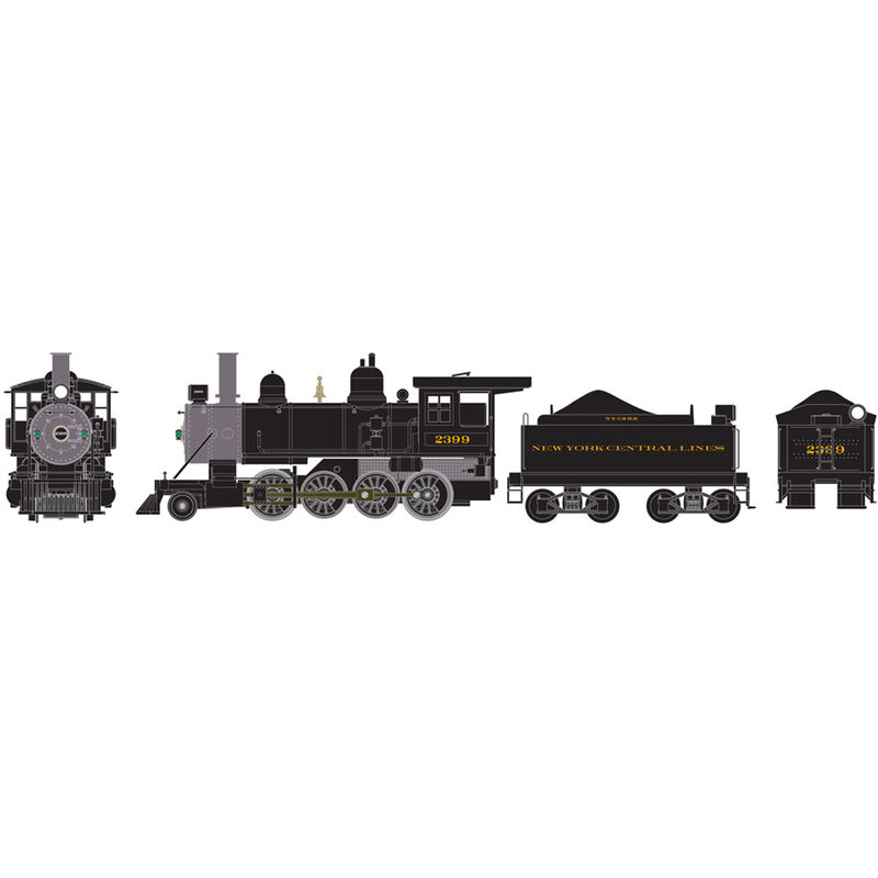 HO RTR Old Time 2-8-0 with DCC & Sound NYC #2399