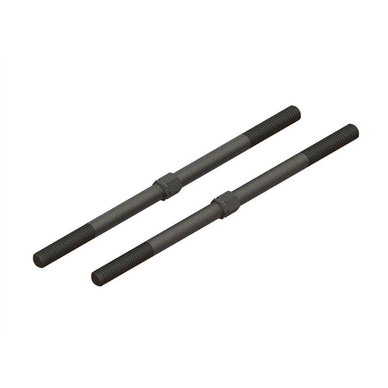 Steel Turnbuckle M6x130mm (Black) (2)