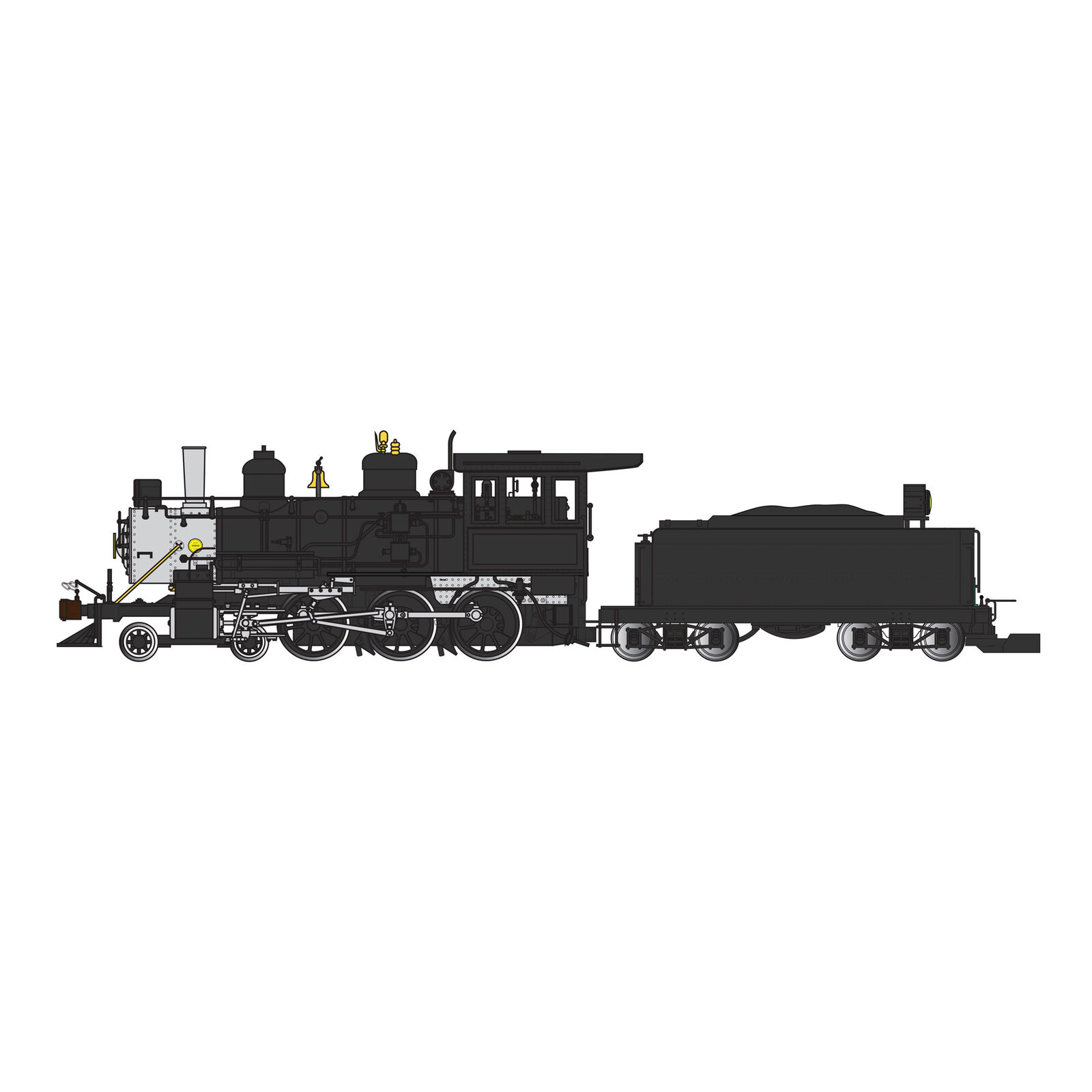 G 4-6-0 w Tender Undecorated