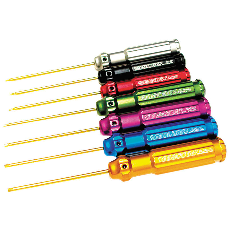 Wrench Set Ti-Nitride Hex (7)