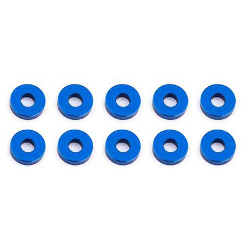 Bulkhead Washers, 7.8x2mm, Blue Aluminum (10)
