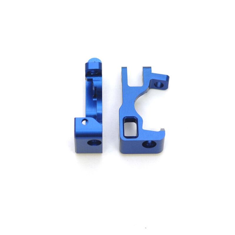 Aluminum Front C-Hubs, Blue (1pr): Slash 4x4