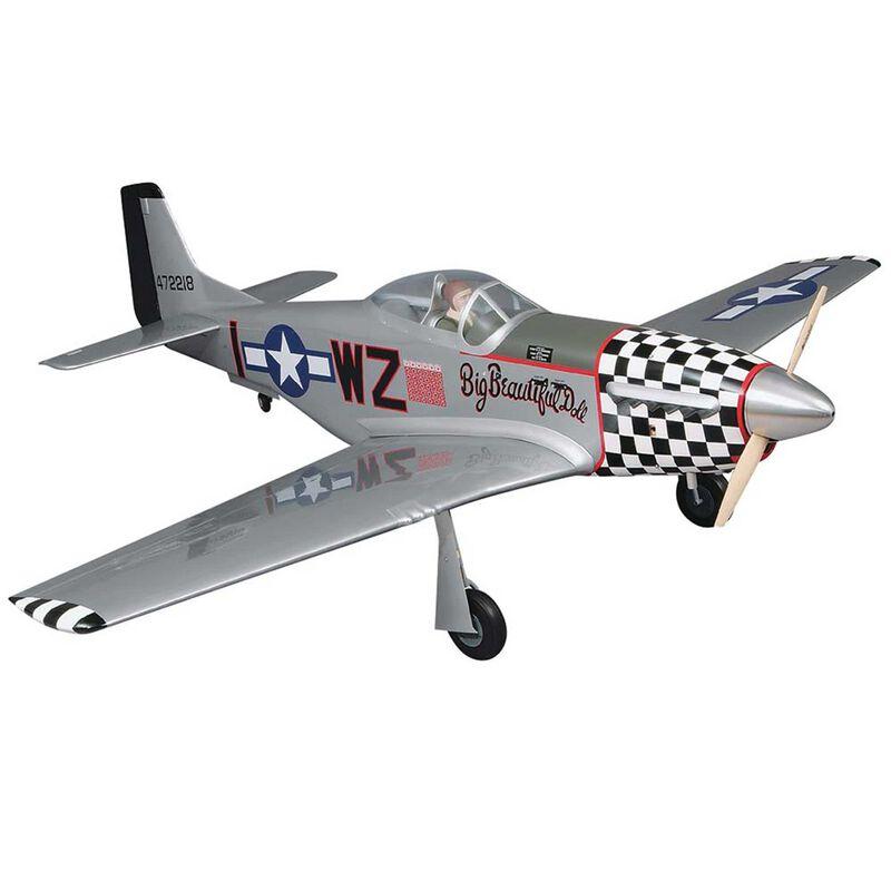 "1/5 Giant P-51D Mustang 2.1-2.8 GP ARF, 84.5"""
