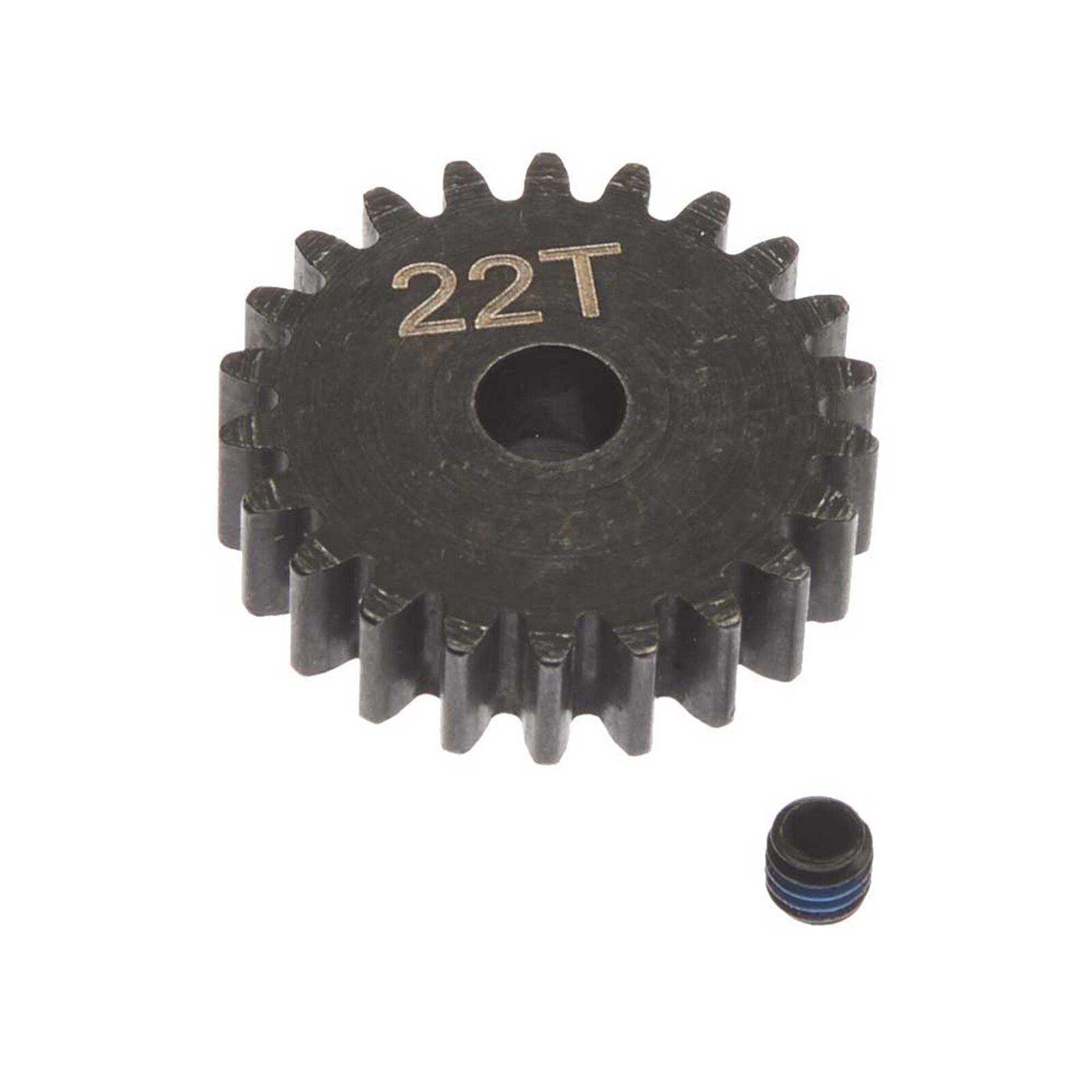 Steel Pinion Gear 22T Mod1 5mm