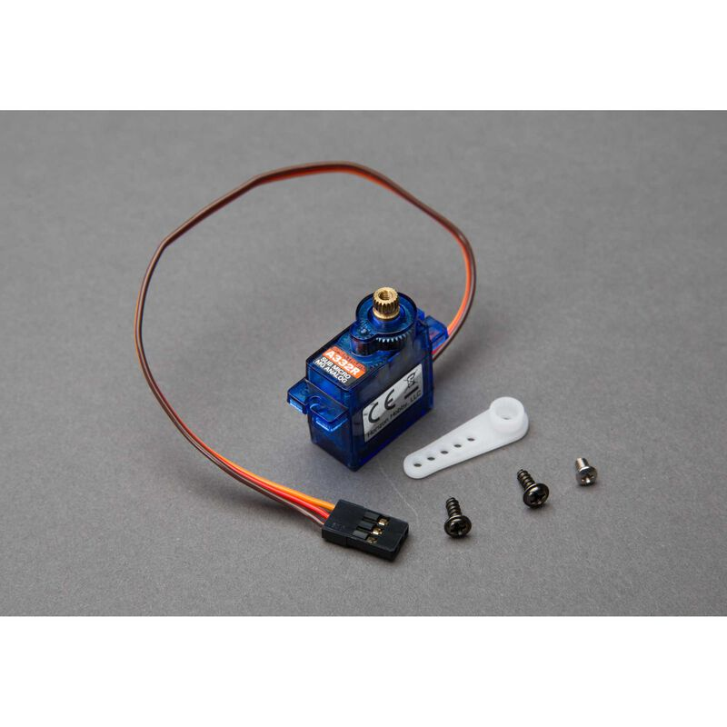 A332R Sub-Micro Analog 9g Metal Gear Aircraft Servo, Reversed
