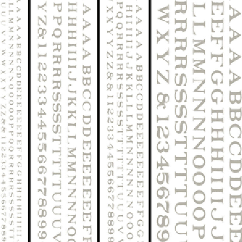 Railroad Roman Letters, White