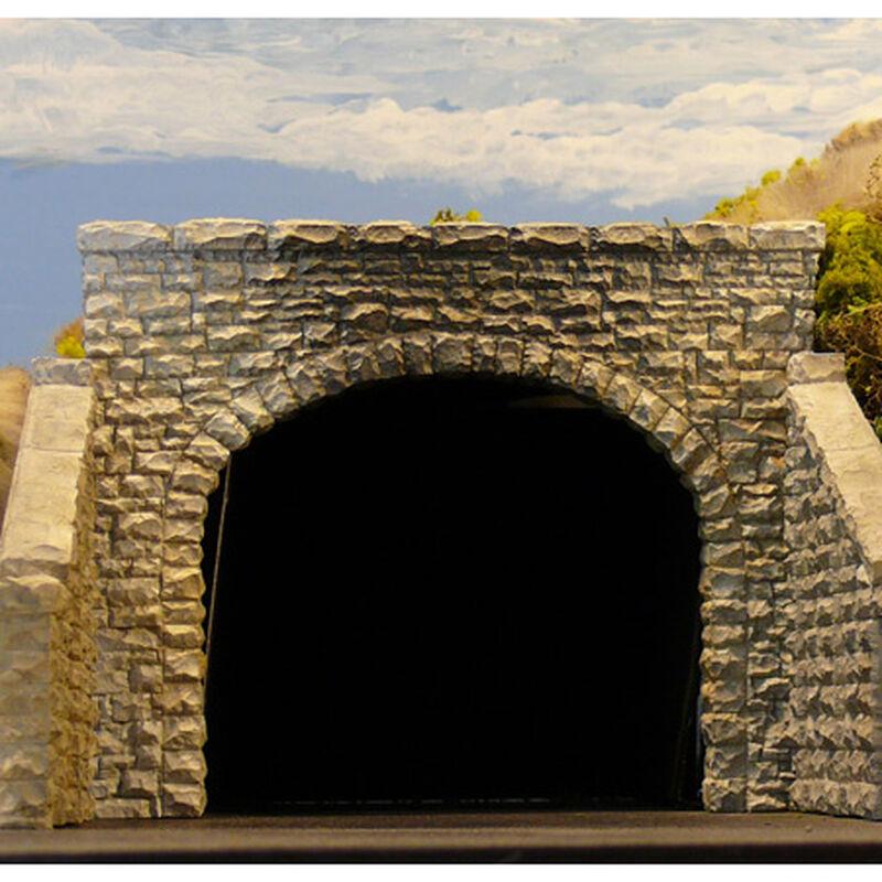 HO Double Random Stone Tunnel Portal