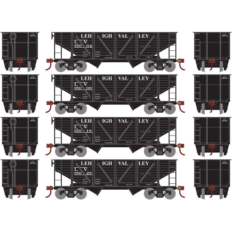 HO 34' 2-Bay Hopper with Coal Load LV #3 (4)
