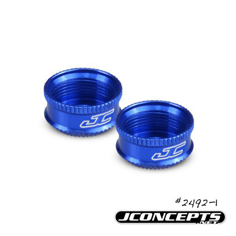 Fin VCS Shock Bottom Cap, Blue (2): B5M, T5M, SC5M