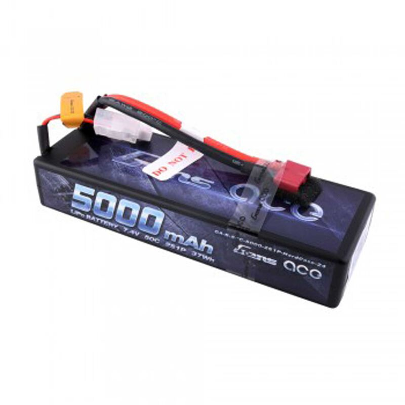 7.4V 5000 Capacity 2S Voltage 50C LiPo, Deans