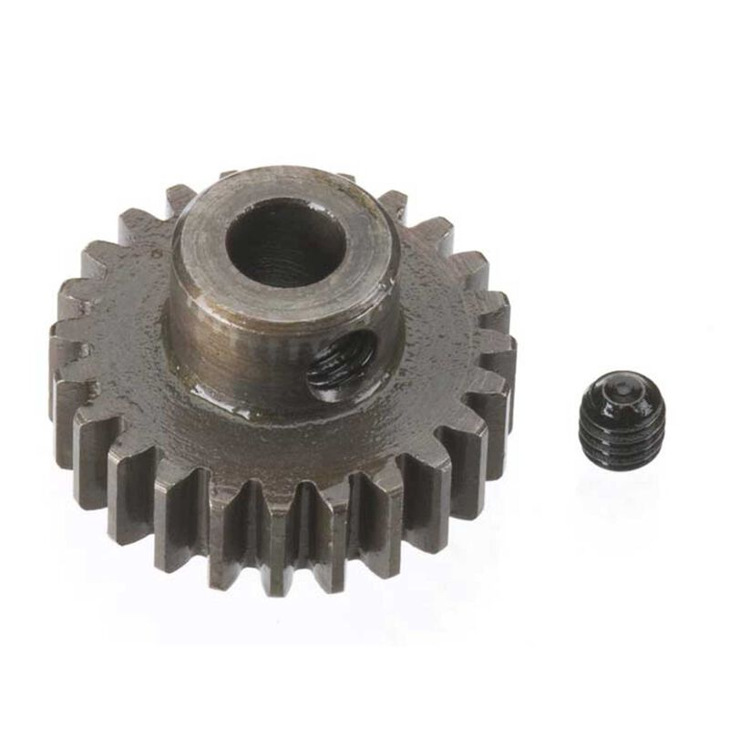 Extra Hard 5mm Bore .8 Module (31.75P) Pinion, 24T