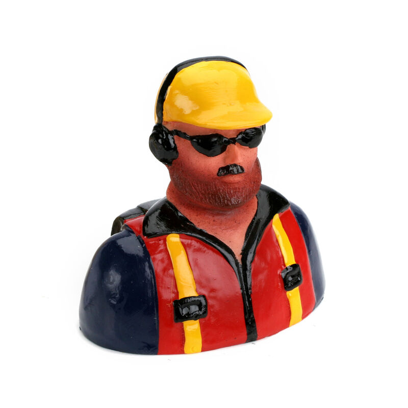 1/9  Pilot with Beard, Hat And Headphones