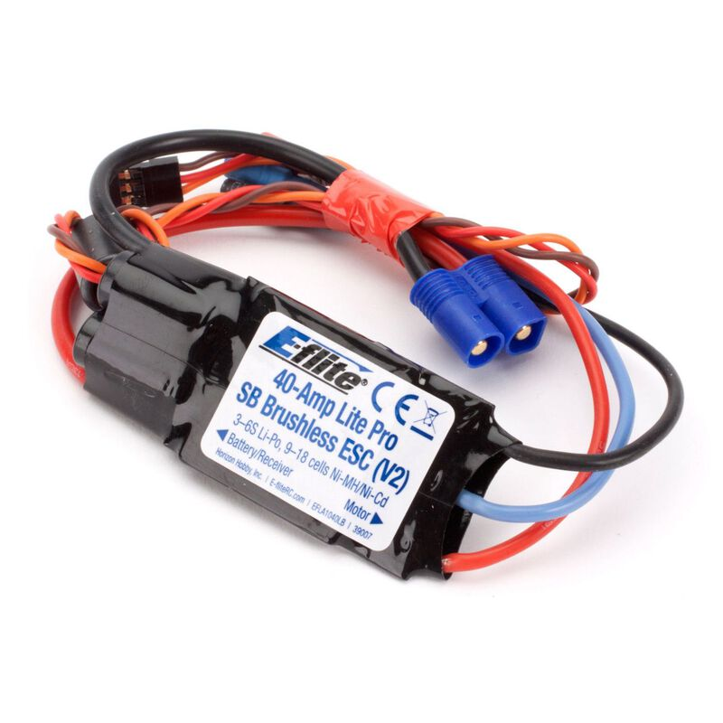 40-Amp Lite Pro Switch-Mode BEC Brushless ESC V2: EC3