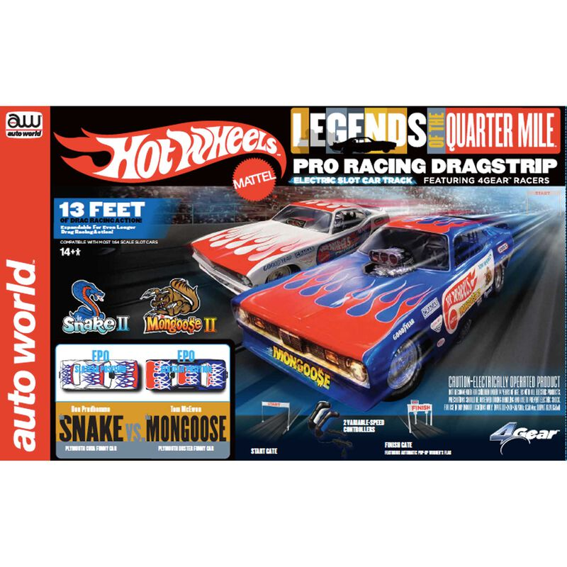 Hot Wheels Slot Drag Set 13'