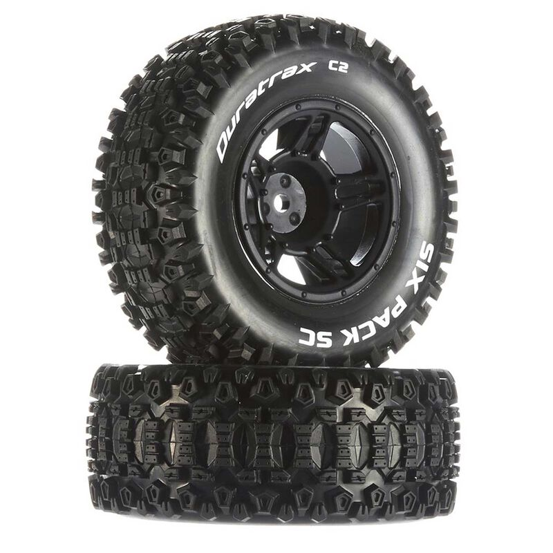 Six-Pack SC C2 Mounted Tires: Traxxas Slash Front (2)