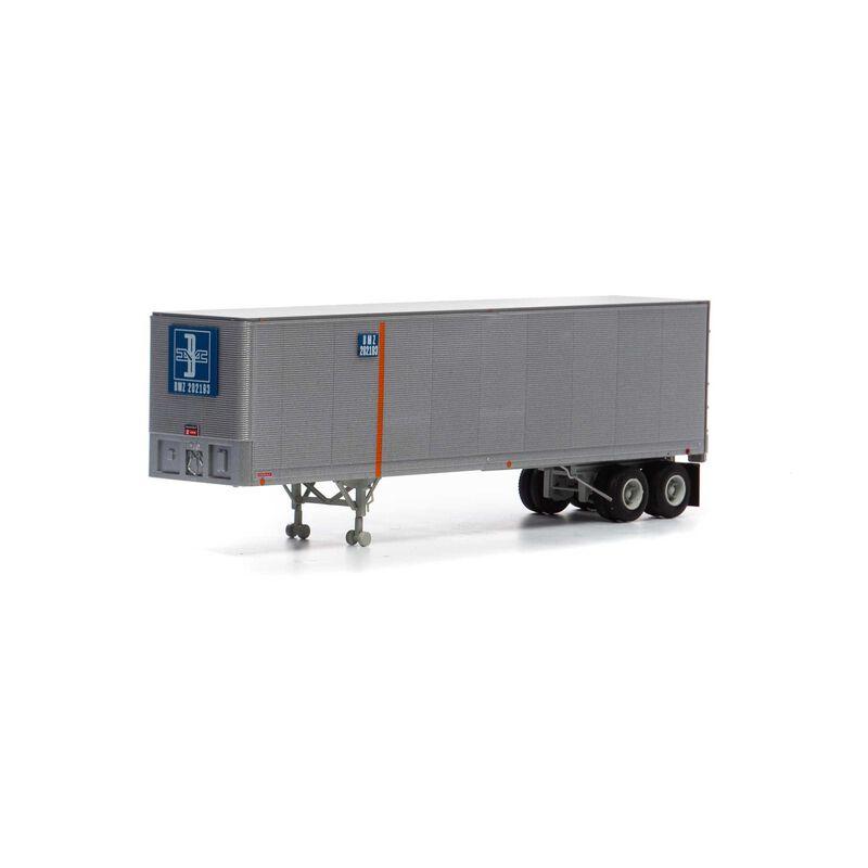 HO RTR 40' Fruehauf Z-Van Trailer B&M #202193