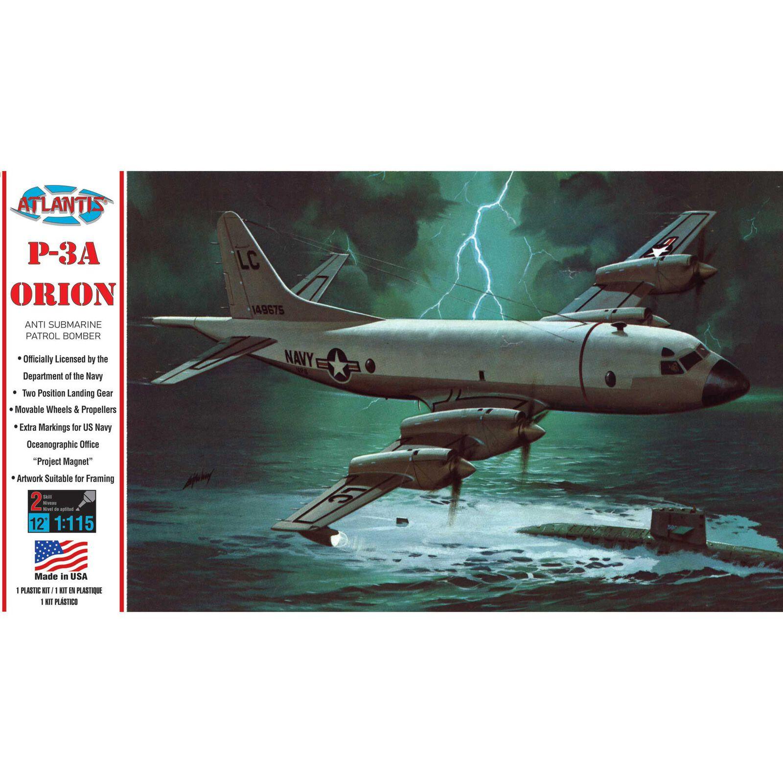 P-3A Orion US Navy Anti Submarine Patrol Bomber