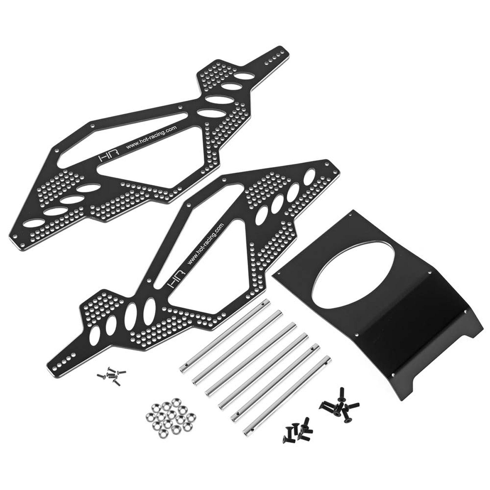 Aluminum Rock Racer Conversion Chassis, Black: Ax10