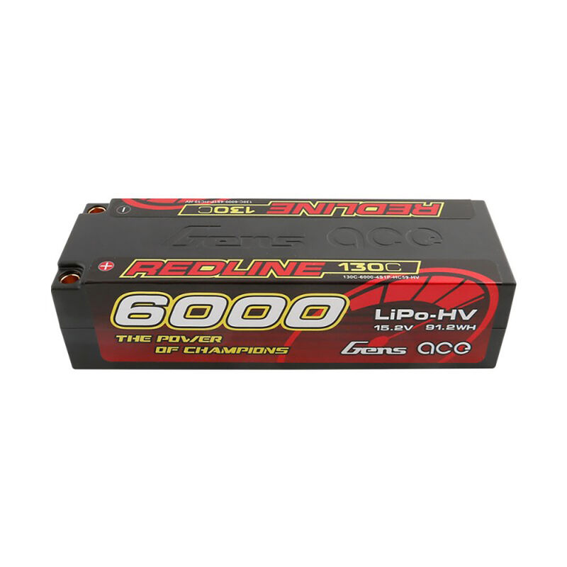 15.2V 6000mAh 4S 130C HV Lipo: 5.0mm BULLET